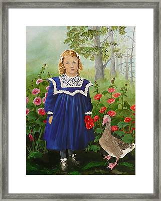 Picking Flowers Framed Print by Virginia Sincler