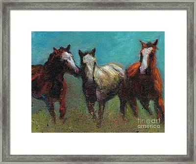 Picking On The New Guy Framed Print by Frances Marino