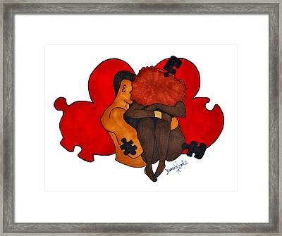 Picking Up The Pieces Framed Print by Diamin Nicole