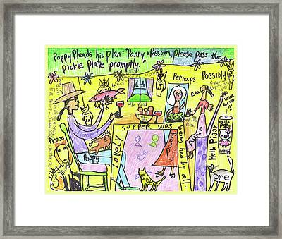 Pickle Plate A Collaboration With Eva Miller Framed Print by Susan  Shie
