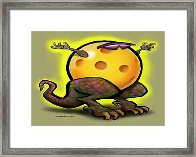 Pickleball Beast Framed Print by Kevin Middleton