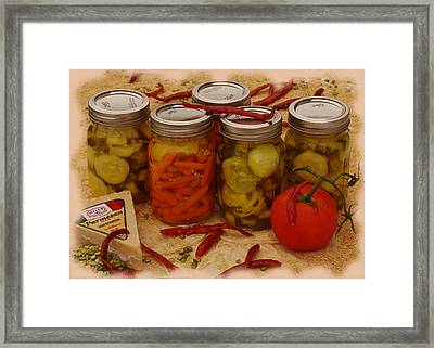 Pickled Still Life Framed Print by Lori Kingston
