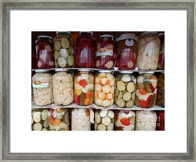 Pickles Anyone?  Framed Print