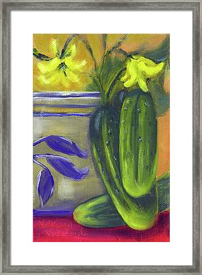 Pickling Cucumbers  Framed Print