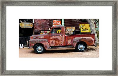 Pickup At Hackberry Arizona Framed Print by Bob Christopher