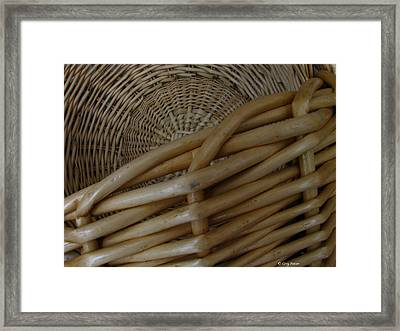 Picnic Basket Framed Print by Greg Patzer