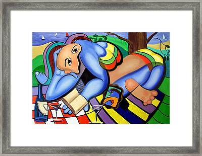 Picnic For One Framed Print by Anthony Falbo