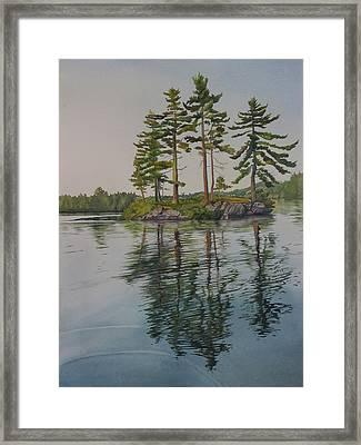 Picnic Island At Dawn Framed Print by Debbie Homewood
