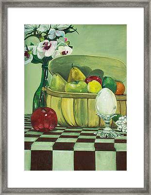 Framed Print featuring the painting Picnic by Jane Autry