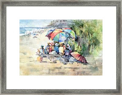 Picnic - Laguna Beach - California Framed Print