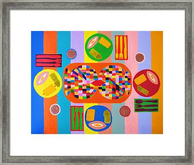 Picnic Number One Framed Print by Ricky Gagnon
