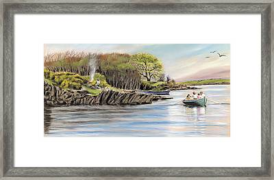 Picnic On The Lake Framed Print by Vanda Luddy