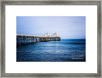 Picture Of Malibu Pier In Southern California Framed Print