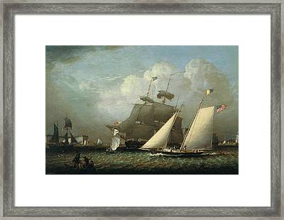 Picture Of The 'dream' Pleasure Yacht Framed Print