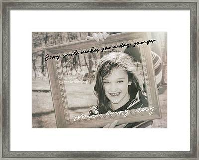 Picture Perfect Quote Framed Print by JAMART Photography