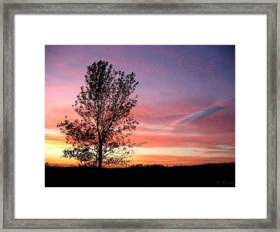 Framed Print featuring the photograph Picture Perfect Sunset 6014 by Maciek Froncisz