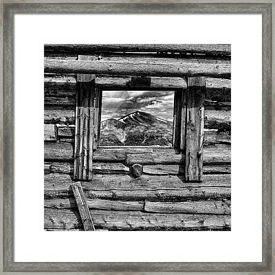 Framed Print featuring the photograph Picture Window #3 by Eric Glaser
