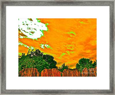 Picture Yourself Tangerine Sky Framed Print