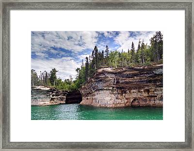 Pictured Rocks Framed Print