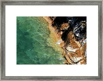 Framed Print featuring the photograph Pictured Rocks by Kenneth Campbell