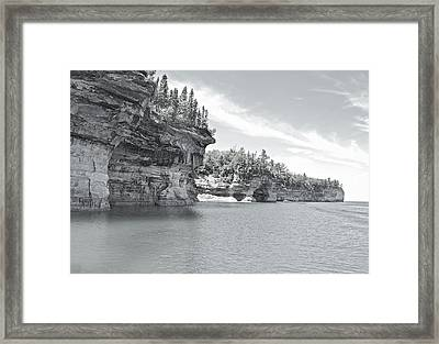Pictured Rocks Shoreline National Park Framed Print by Michael Peychich