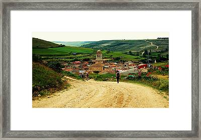 Picturesque Arrival Framed Print