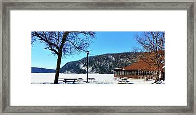 Picturesque Devil's Lake Framed Print by Ricky L Jones