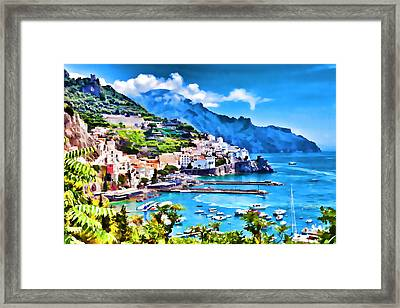 Picturesque Italy Series - Amalfi Framed Print