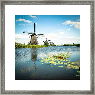 Framed Print featuring the photograph Picturesque Kinderdijk by Hannes Cmarits