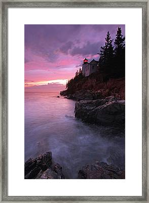Picturesque New England Bass Harbor Lighthouse Framed Print by Juergen Roth