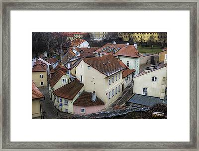 Picturesque Quarter Close To Prague Castle Framed Print by Marek Boguszak