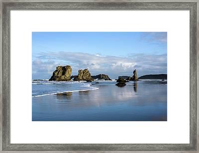 Picturesque Rocks Framed Print