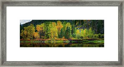 Framed Print featuring the photograph Picturesque Tumwater Canyon by Dan Mihai