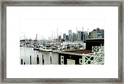 Picturesque Vancouver Harbor Framed Print by Will Borden