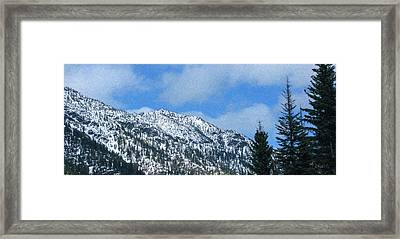 Picturing Beautiful Horizons Methow Valley Motivational Artwork  Framed Print by Omaste Witkowski
