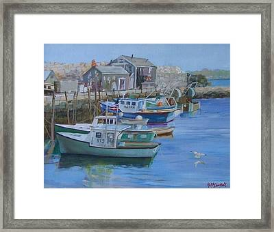 Pidgeon Cove  Framed Print by Michael McDougall
