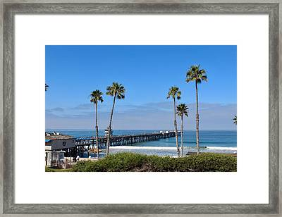 Pier And Palms Framed Print