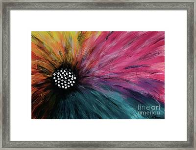 Piebald Flower By Nikki Menner Framed Print