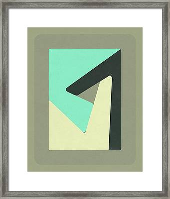 Pieces #1 Framed Print by Jazzberry Blue