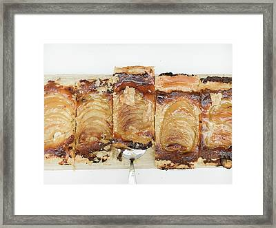 Pieces Of Apple Tart Framed Print by Tom Gowanlock