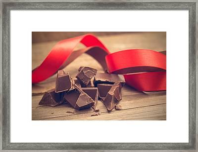 Pieces Of Chocolate Bar Framed Print by Nadezhda Tikhaia