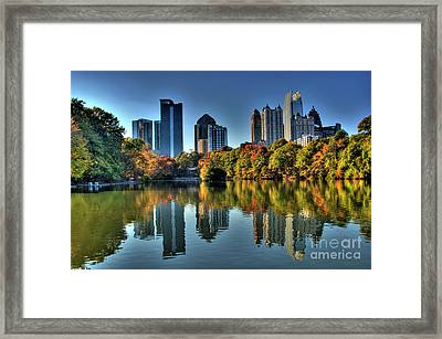 Piedmont Park Atlanta City View Framed Print