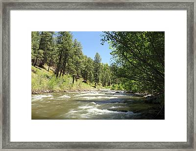 Piedra River Framed Print by Eric Glaser