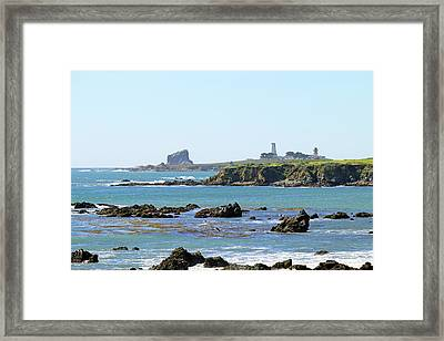 Framed Print featuring the photograph Piedras Blancas Lighthouse by Art Block Collections