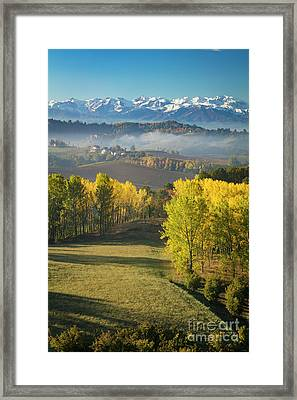 Framed Print featuring the photograph Piemonte Morning by Brian Jannsen