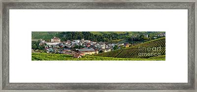 Framed Print featuring the photograph Piemonte Panoramic by Brian Jannsen