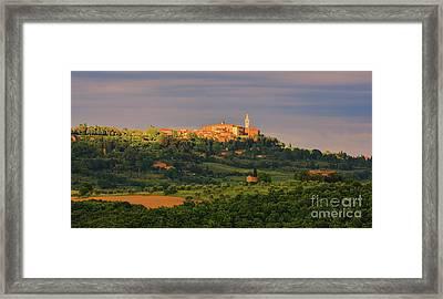 Pienza - Tusacany - Italy Framed Print