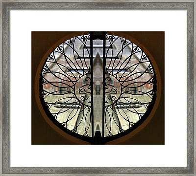 Pienza Window  Framed Print