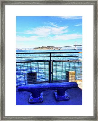 Pier 1 Blue - Limited Run Framed Print by Lars B Amble