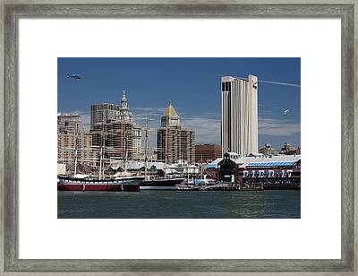 Framed Print featuring the photograph Pier 17 Nyc by Ken Barrett